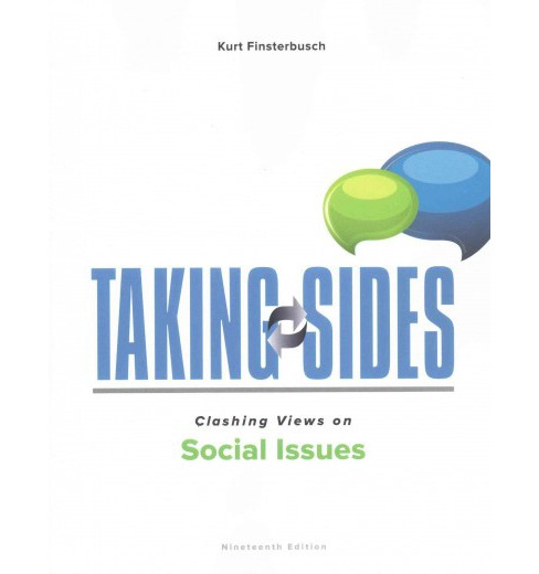 Taking Sides Clashing Views on Social Issues (Paperback) (Kurt Finsterbusch) - image 1 of 1