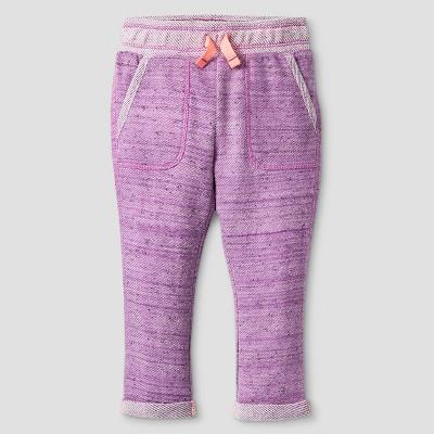 Baby Girls' Cozy Jogger Pants - Cat & Jack™ Baracoa Violet 12M