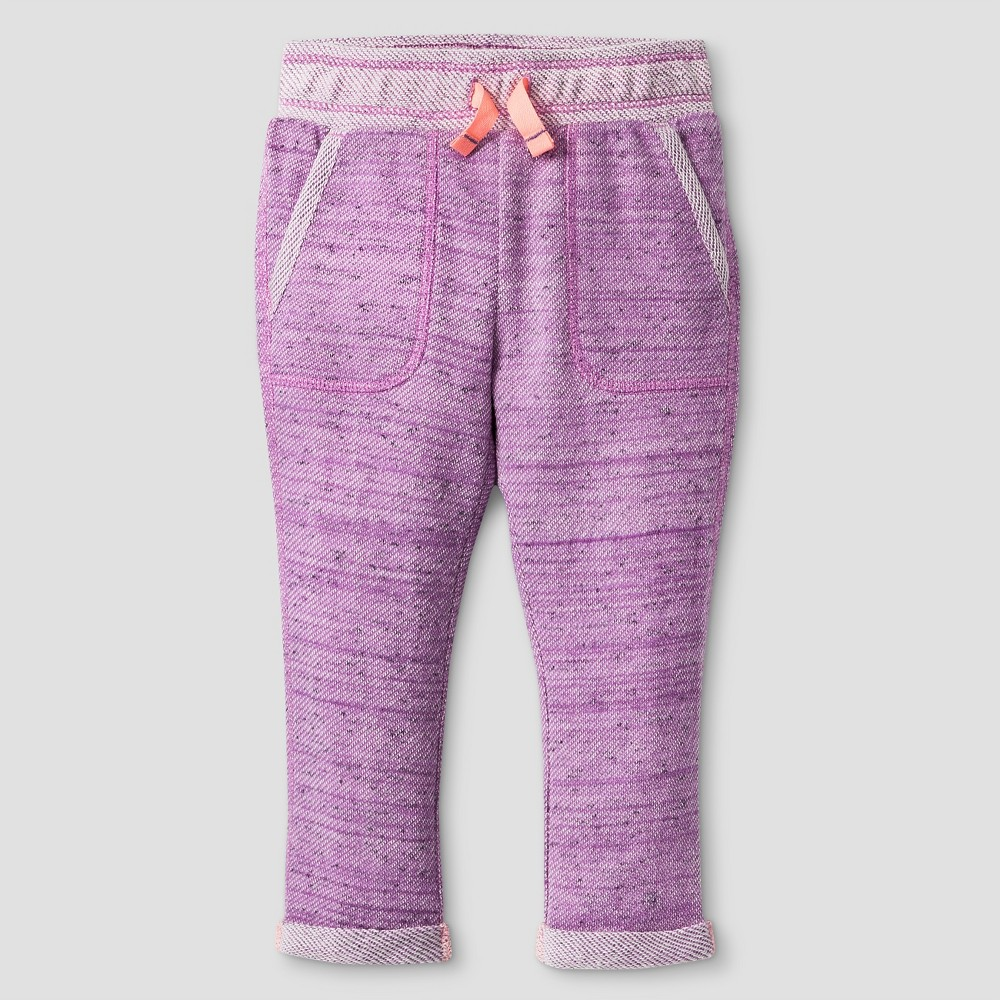 Baby Girls Cozy Jogger Pants Cat & Jack - Light Purple 18M, Size: 18 M