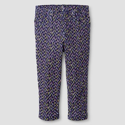 Baby Girls' Patterned Jeggings - Cat & Jack™ Navy 12M