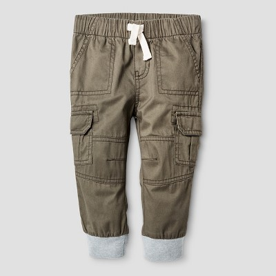 Baby Boys' Woven Cargo Pant Cat & Jack™ - Olive Green 12M