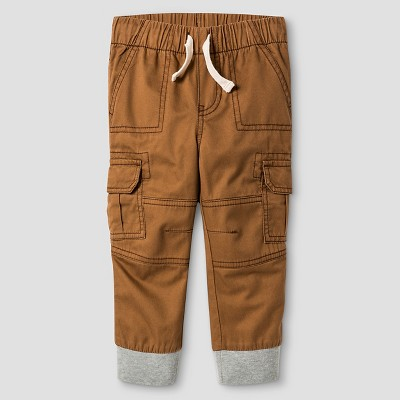Baby Boys' Woven Cargo Pant Cat & Jack™ - Toasted Brown 12M