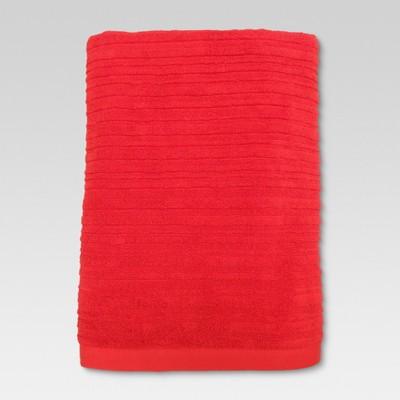 Textured Bath Sheet Warm Orange - Threshold™