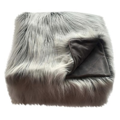 Faux Fur Throw Blanket White - Threshold™