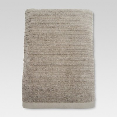 Textured Bath Sheet Natural Taupe - Threshold™