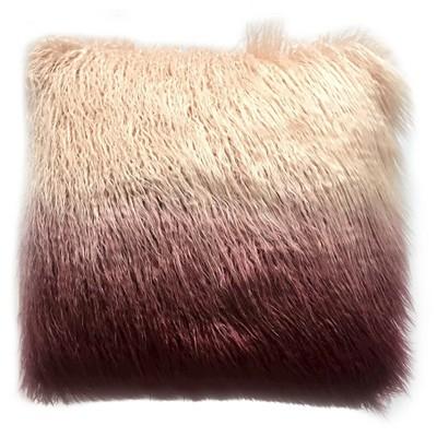 Ombre Faux Fur Pillow Purple (18 x18 )- Threshold™