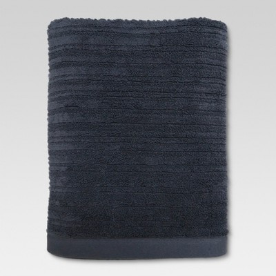 Textured Bath Towel Anchor Gray - Threshold™