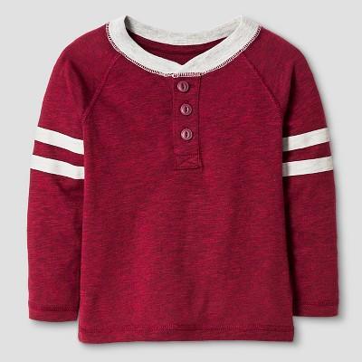 Baby Boys' Henley T-Shirt Baby - Cat & Jack™ - Bing Cherry Red 18M