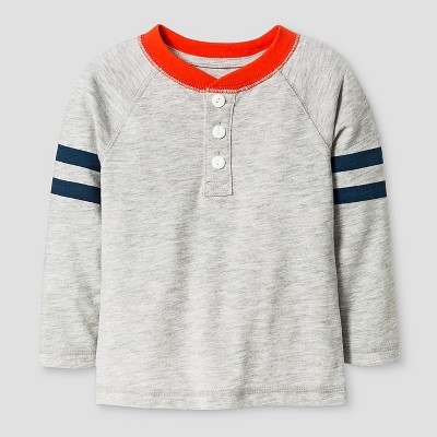 Baby Boys' Henley T-Shirt Baby - Cat & Jack™ - Grey 12M