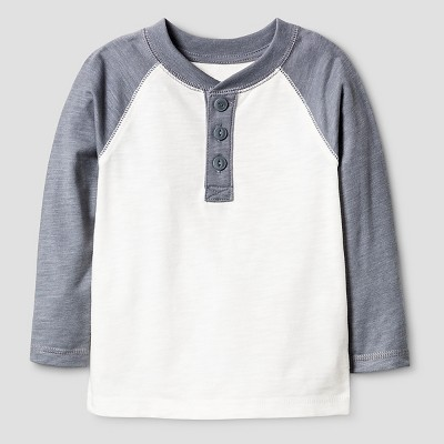 Baby Boys' Henley Shirt - Almond Cream 12 M - Cat & Jack™