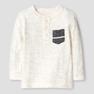 Baby Boys' Henley T-Shirt Baby - Cat & Jack™ - Cream White 12M