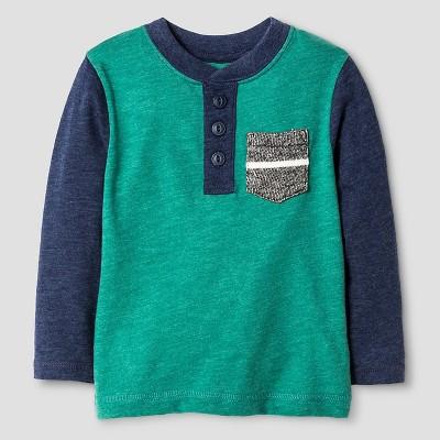 Baby Boys' Henley T-Shirt Baby - Cat & Jack™ - Bermuda Vine 12M