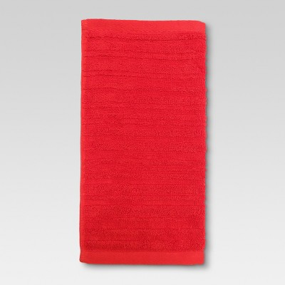 Textured Washcloth Warm Orange - Threshold™
