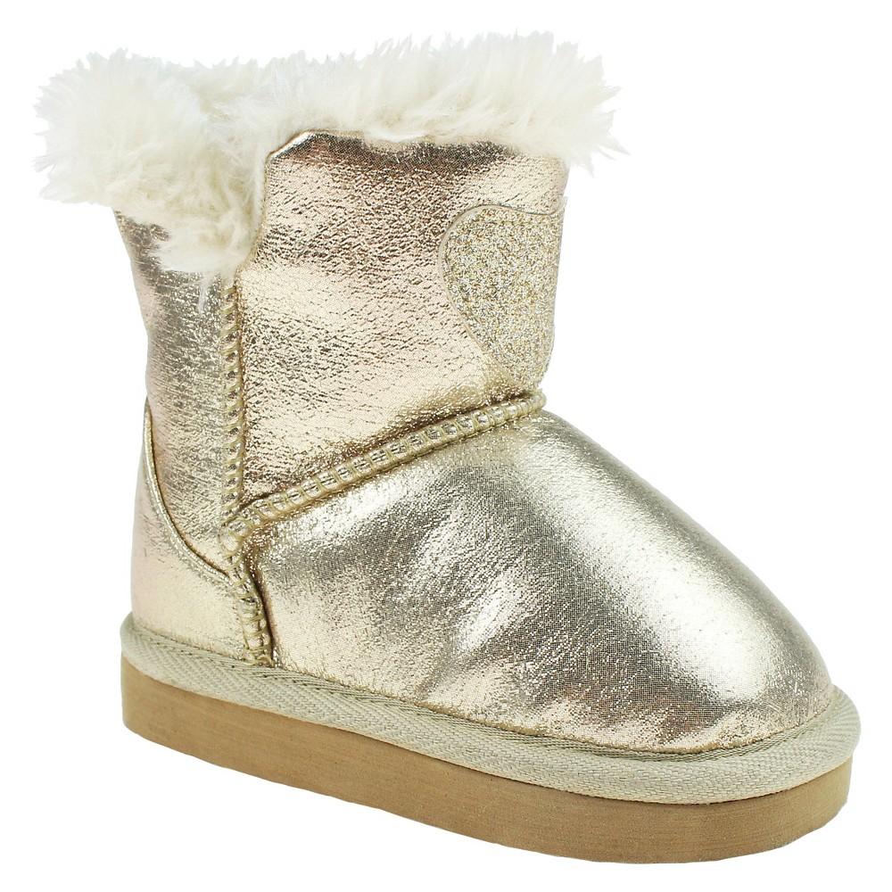 Toddler Girls Capelli Joyce Fur Lined Heart Booties - Gold 4-5