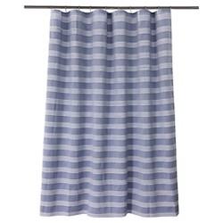 Chambray Stripe Shower Curtain Blue/White - Fieldcrest™