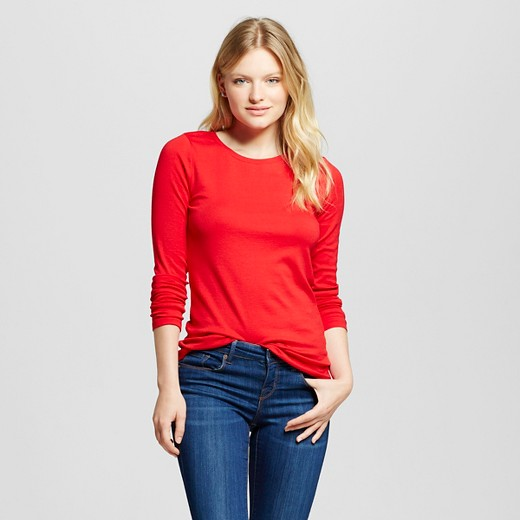 Women's Fitted LS Crew T-Shirt - Merona™ : Target