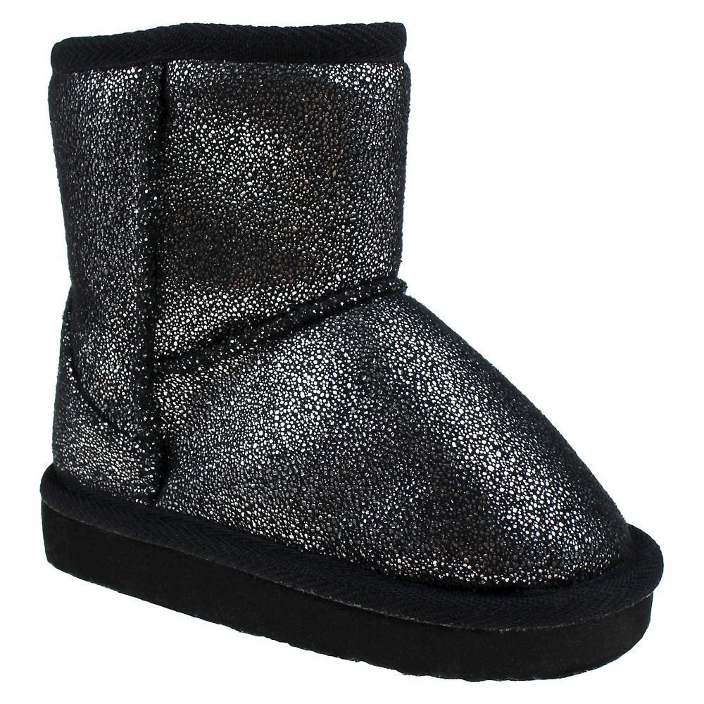 Toddler Girls Capelli Joy Shimmer Shearling Booties - Black 6-7