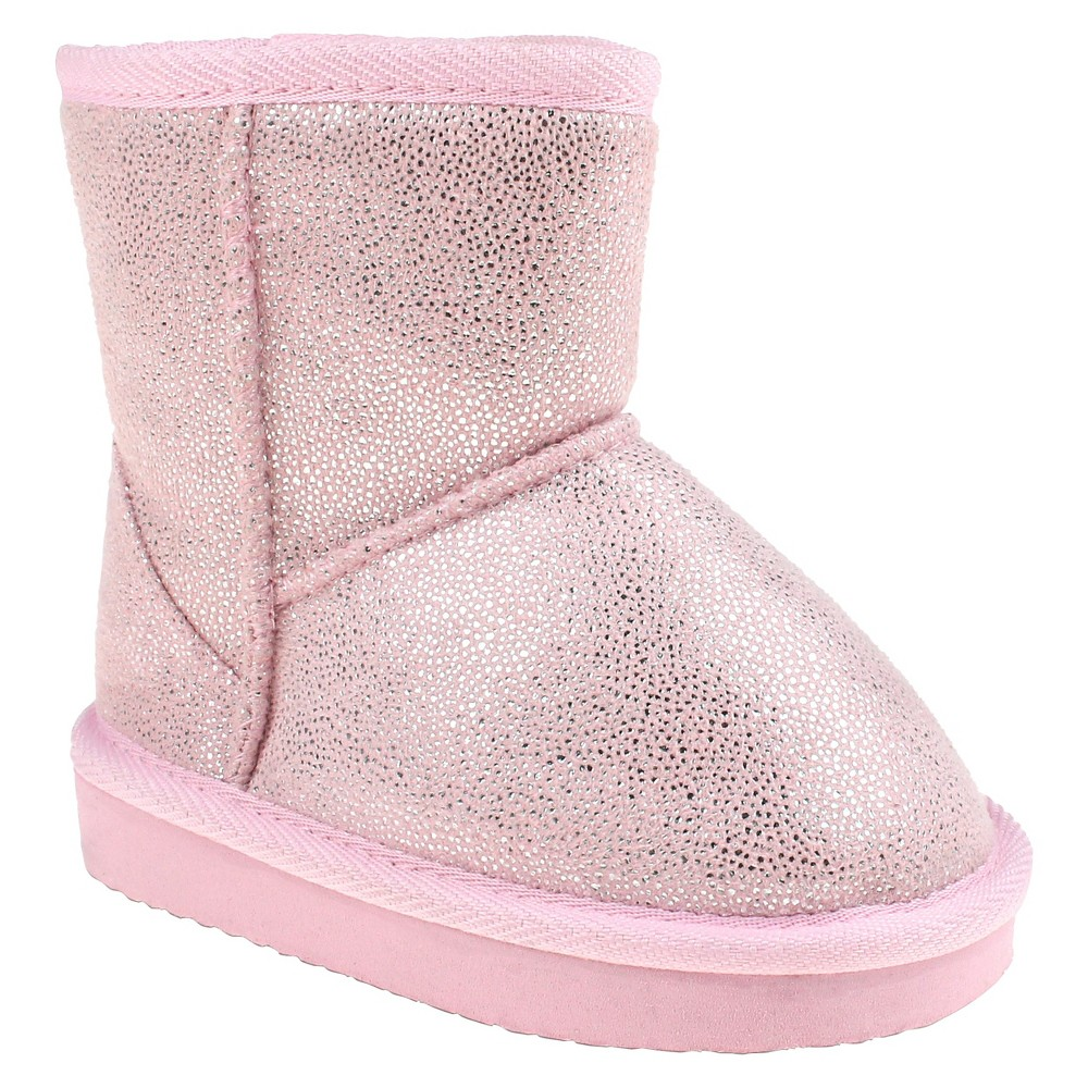 Toddler Girls Capelli Joy Shimmer Shearling Booties - Pink 4-5