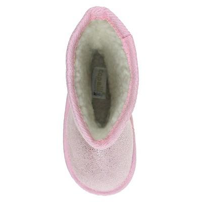 Toddler Girls' Capelli Joy Shimmer Shearling Booties - Pink 8-9, Toddler Girl's