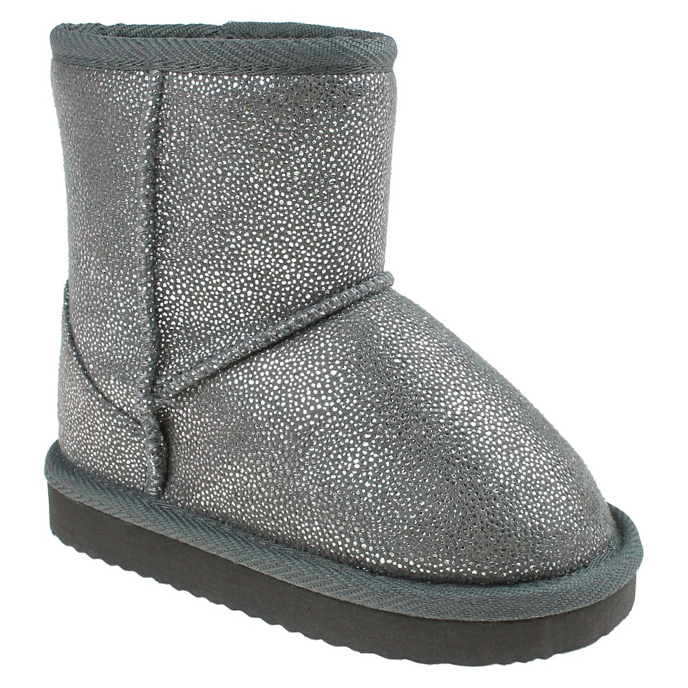 Toddler Girls Capelli Joy Shimmer Shearling Booties - Silver 6-7
