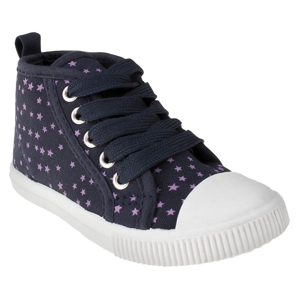 Toddler Girls Capelli Joey Captoe High Top Sneakers - Navy (Blue) 6-7