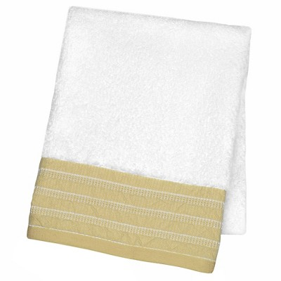 Decorative Luxury Hand Towel Tan Border - Fieldcrest™