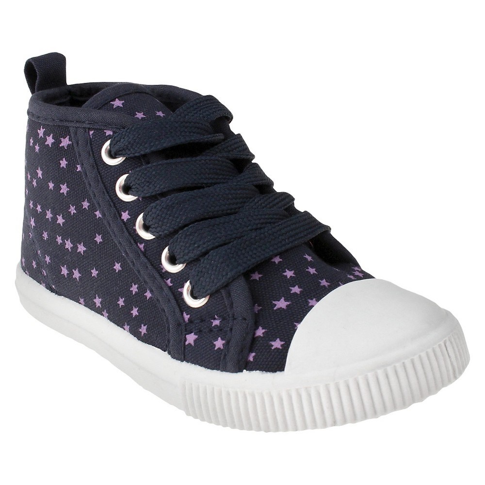 Toddler Girls Capelli Joey Captoe High Top Sneakers - Navy (Blue) 4-5