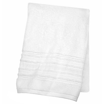 White Trim Decorative Luxury Bath Towel - Fieldcrest™