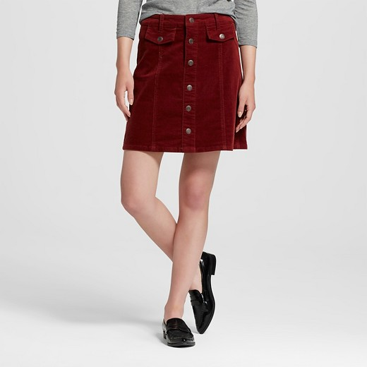 Women's Button Front A-Line Skirt - Mossimo Supply Co.™ (Juniors ...