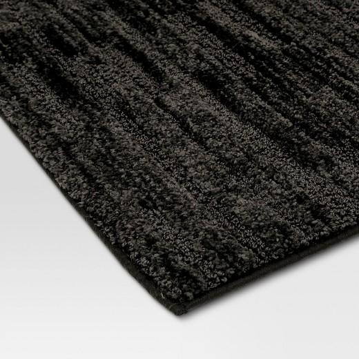Stripe Textured Bath Rugs