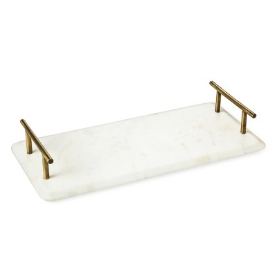 Marble/Brass Serving Tray - Threshold™