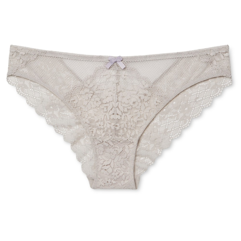 Womens Lace Cheeky Bikini Morning Fog XL