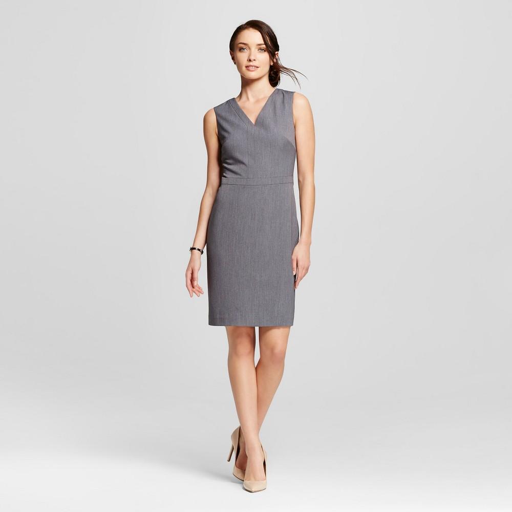 Womens Sleeveless Bi- Stretch Twill Occupational Dress - Merona, Size: 14, Light Gray