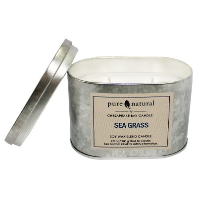 Tin Container Candle Seagrass - Pure & Natural by Chesapeake Bay Candle®