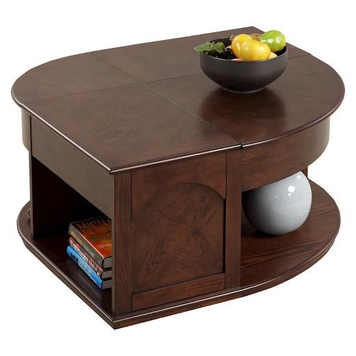 Sebring Coffee Table Double Lift Top Medium Ash Progressive Furniture