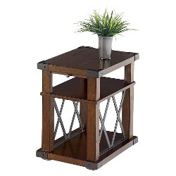Landmark End Table Chairside - Vintage Ash - Progressive Furniture