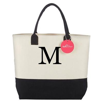 Tote Bag - Classic Monogrammed Black White - M