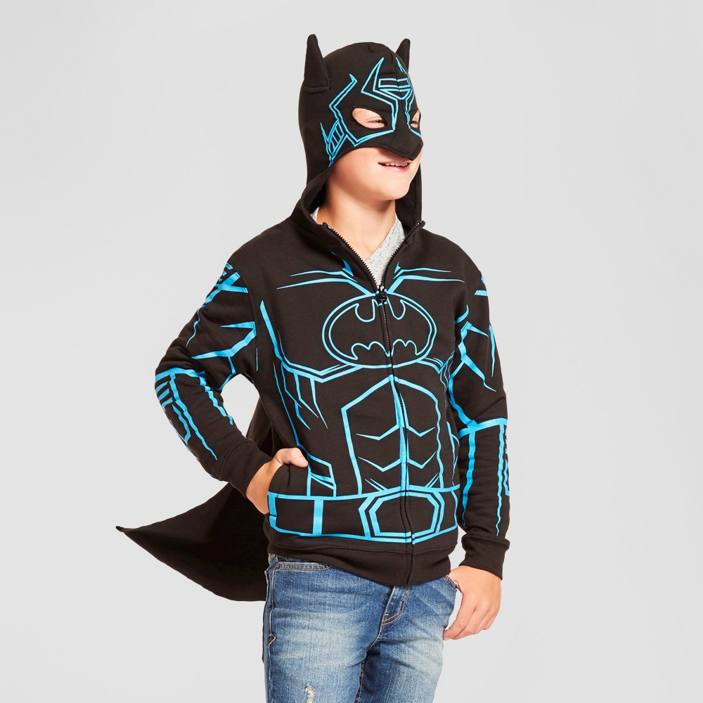 Boys Batman Hooded Sweatshirt - Black XS