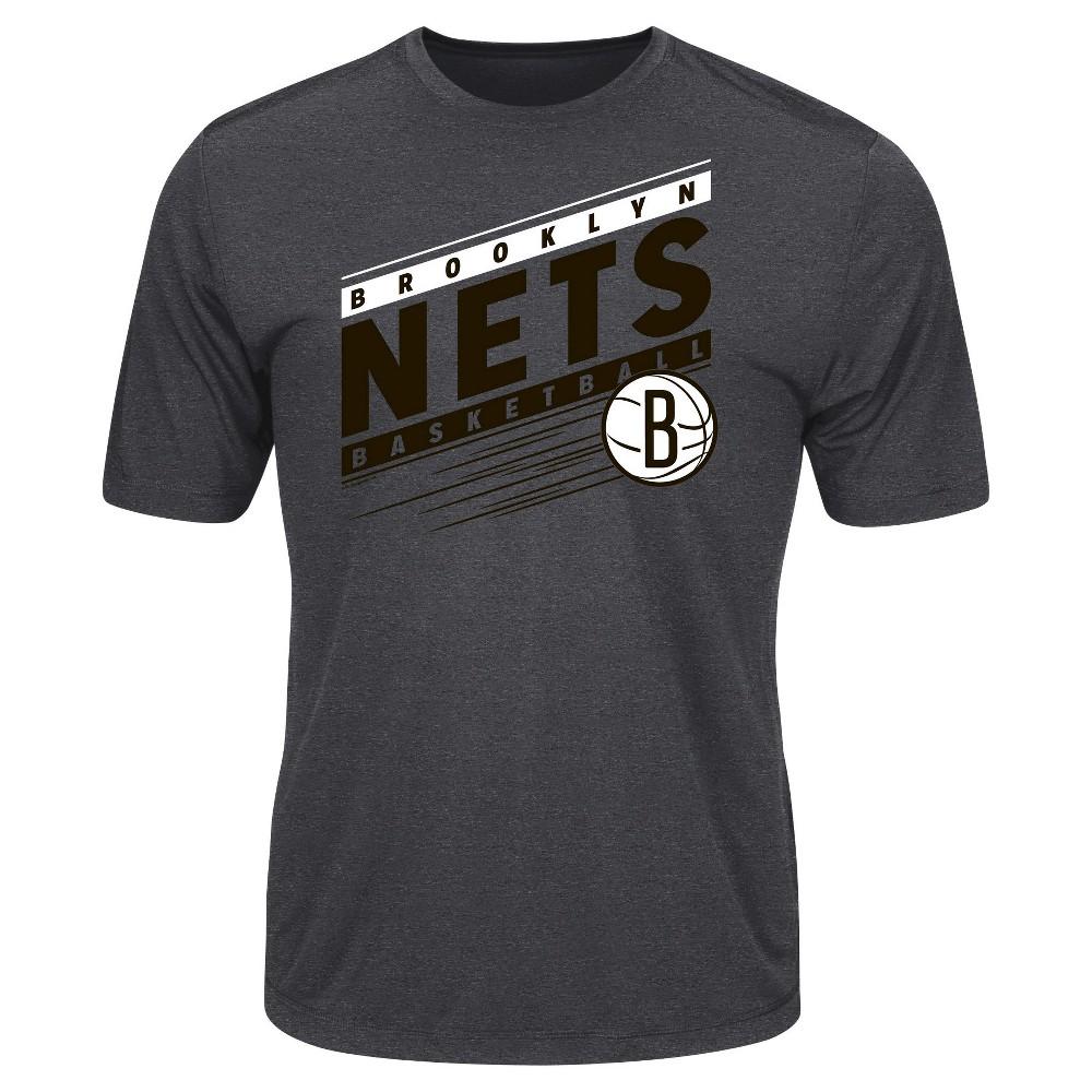Brooklyn Nets Men's Short Sleeve Performance T-Shirt - Charcoal L
