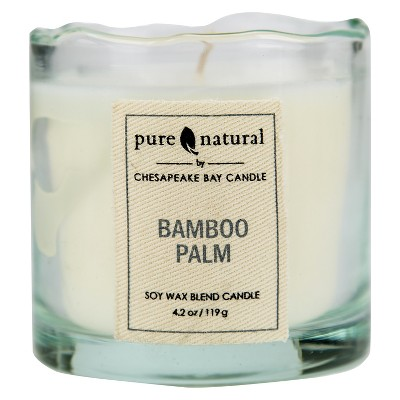 Glass Container Candle Small Bamboo Palm - Pure & Natural by Chesapeake Bay Candle®