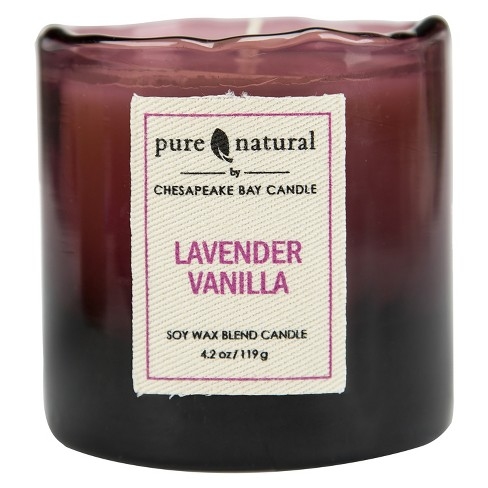 Glass Container Candle Lavender Vanilla 4.2oz - Pure & Natural by Chesapeake Bay Candle - image 1 of 1