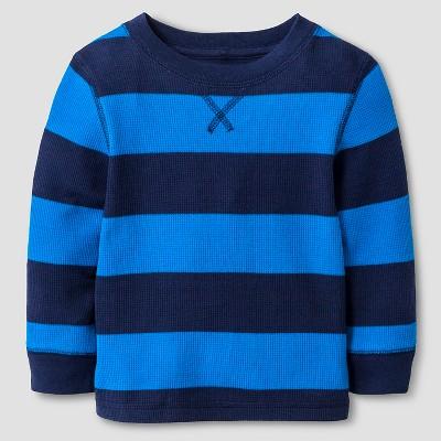 Baby Boys' Long Sleeve Henley Shirt - Cat & Jack™ Nightfall Blue 18M