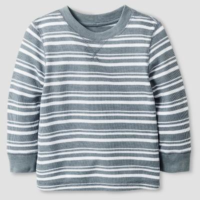 Baby Boys' Long Sleeve Henley Shirt - Cat & Jack™ Nimbus Cloud 12M
