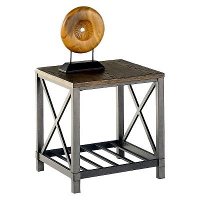 Perfect Oak Hill End Table   Wire Brushed Oak   Progressive Furniture
