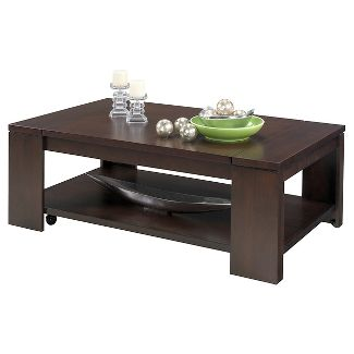 Waverly Coffee Table Lift Top With Casters Vintage Walnut Progressive Furniture