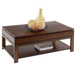 Miramar Coffee Table Castered Sliding Top - Birch/Cherry Veneer - Progressive Furniture