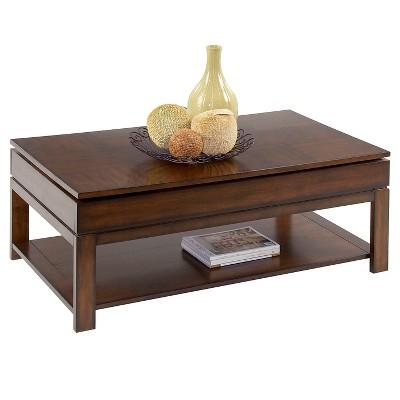 Miramar Coffee Table Castered Sliding Top Birch Cherry Veneer Progressive  Furniture