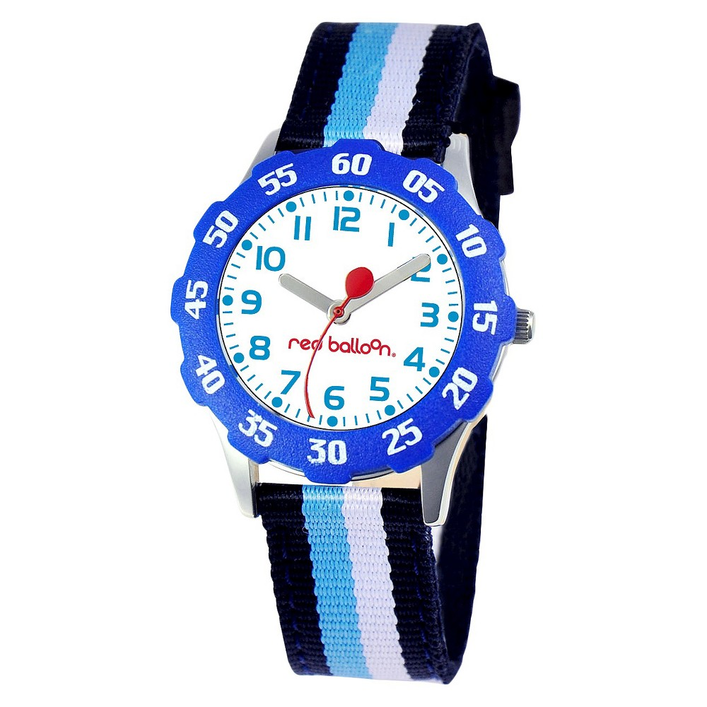 Boys Red Balloon Sporty Stainless Steel Watch - Colorful, Multi-Colored