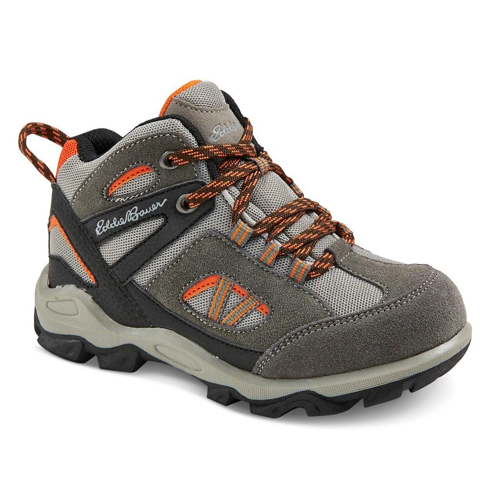 Eddie Bauer Boys' Utility Hiking Boots - Gray 13