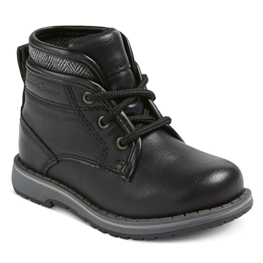 Eddie Bauer Toddler Boys' Sweater Trim Casual Boot Booties - Black 6